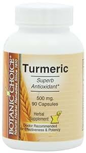 Botanic Choice Turmeric, 500 mg, 90 Capsules (Pack of 5)