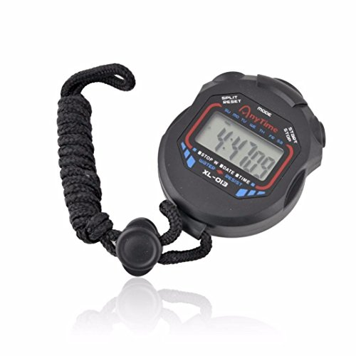 DEESEE(TM)LCD Professional Digital Handheld Chronograph Sports Stopwatch Timer Stop Watch (Whistle Timer compare prices)