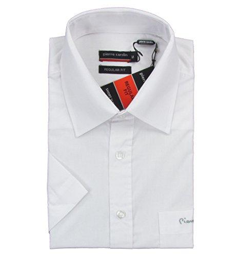 Pierre Cardin -  Camicia classiche  - Maniche corte  - Uomo bianco XX-Large