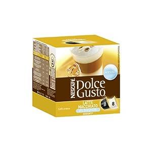 Nescafé Dolce Gusto Latte Macchiato Unsweetened, 16 Capsules (8 Servings)