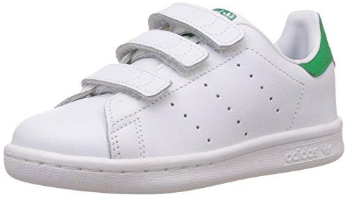 adidas Originals Stan Smith CF C - Scarpe per bambini, unisex, multicolore (Ftwr White/Ftwr White/Green), taglia 30