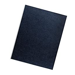 Fellowes Binding Linen Presentation Covers, Letter, Navy, 50 Pack (52096)