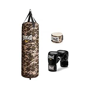 Everlast 70 lb Camouflage Heavy Bag Kit, Camo