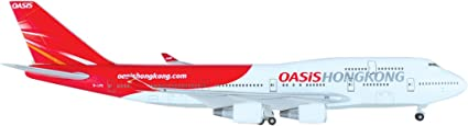 Boeing 747-400 Oasis Hong Kong maquette avion échelle 1:400