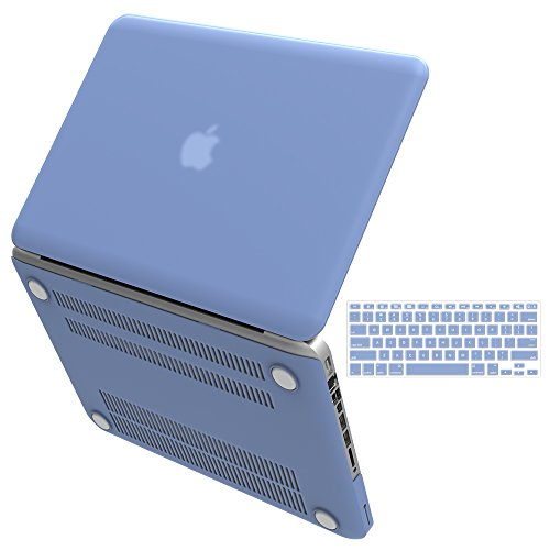 "IBenzer - 2 in 1 Macbook Pro 13"" Soft-Skin Plastic Hard Case Cover & Keyboard Cover for Macbook Pro 13"" with CD-ROM (A1278), Serenity Blue MMP1301SRL+1"