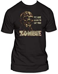 Zombie We're Going To Eat You Vintage Style Horror Icon Adult T-Shirt Tee