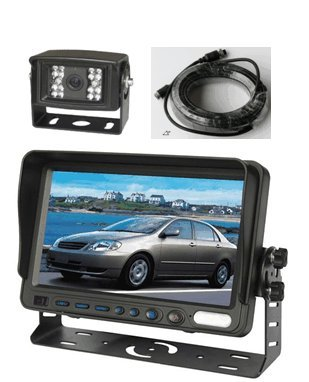 "7"" Color Lcd Reversing Monitor And Ccd Rear View Camera With 4-Pin Weather/Water Proof Connectors, Up To 2 Cameras Auto Switching And Ccd 120° Night Vision. By Yantech Usa"