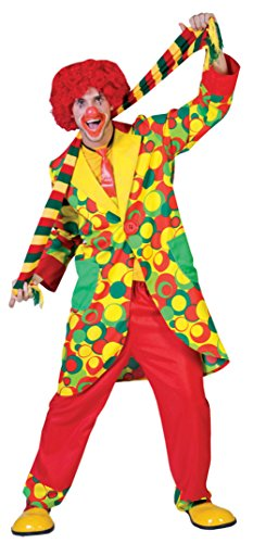 Funny Fashions Mens Bubble-Up Carnival Clown Jacket And Pants Party Costume