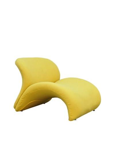 International Design USA Sweet Lip Lounge Chair, Yellow