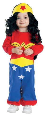 Rubie's Costume Co Justice League Wonder Woman Romper, Wonder Woman Print, 6 - 12 Months