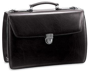 Jack Georges Elements Collection Triple Gusset Flap with Open Back Pocket, Black Jack Georges Nylon Briefcase