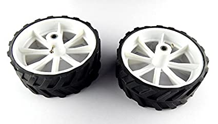 10-x-4-CM-Robot-Wheels-(tyres)-for-6-mm-shaft-Geared-DC-motor-2-Pcs