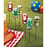 Keep Your Drinks Secure with a Set of 6 Outdoor Can Holders - 12-3/4 Inches X 2-3/4 Inches Dia.