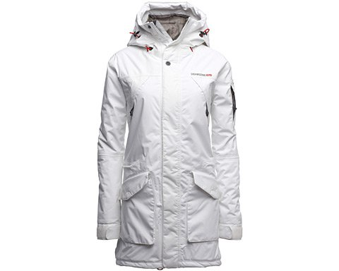 Didriksons Womens Isabelle Parka Jacket (36, Snow White)