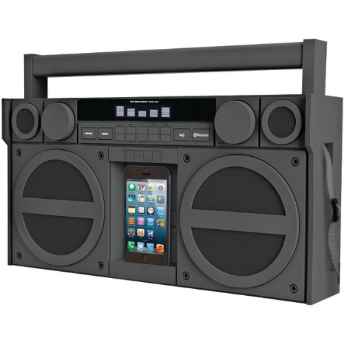 Ihome Ibt44Gc Bluetooth(R) Portable Fm Stereo Boom Box With Usb Charging (Gray)