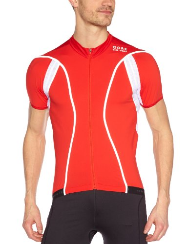 Gore Bike Wear Oxygen Reflex FZ Men's Cycling Tricot Top - Red, S
