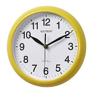 Amazon.com - 8H Classic Brief Wall Clock(Yellow) -