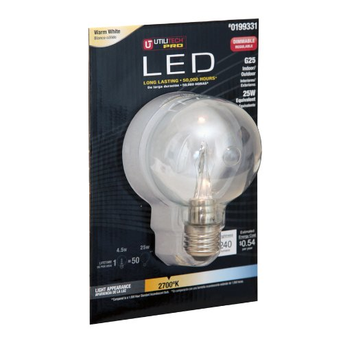 Utilitech Pro 4.5-Watt (25W) 199331 Warm White (2700K) Decorative Led Bulb
