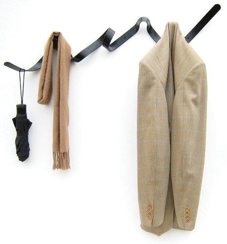 Headsprung Ribbon Coat Rack / Coat Hook in Matt Black