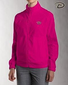 Arizona Diamondbacks Ladies Ladies WeatherTec Camano Full Zip Jacket Ribbon Pink by Cutter & Buck