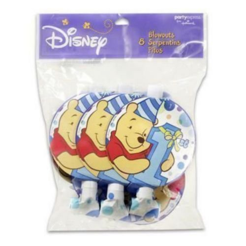 Winnie the Pooh Boy's 1st Birthday Blowouts / Favors (8ct) - 1