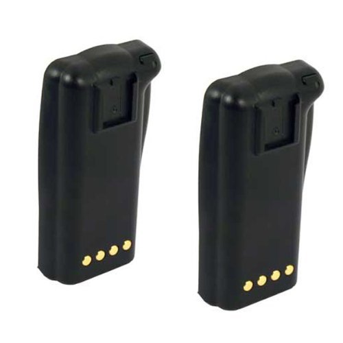 Hitech - 2 Pack of BTM100-01 / QPA1350 / ACC-206 Replacement Batteries for Maxon / Midland SL100, SL100K, SP200 Series, SP220, SP230, SP240, and SP250 2-Way Radios (Ni-MH, 1500mAh)