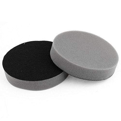 Water & Wood 2 Pcs 5 Dia Soft Vehicles Car Clean Washing Sponge Black Gray with Car Cleaning Cloth sponge stick swabs roland versacamm mimaki printers print head foramt solvent cleaning swabs clean sponge dx4 dx5 50 pcs