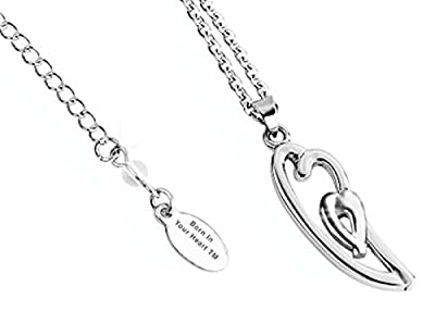 Mother Child Born in Your Heart Necklace Stainless Steel
