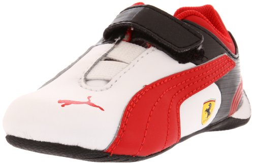 Puma Future Cat M2 SF V Kids Sneaker (Toddler/Little Kid/Big Kid),White/Rosso Corso/Black,8 M US Toddler