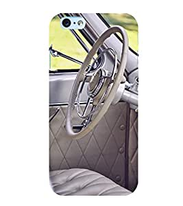 printtech Vintage Car Steering Indide Back Case Cover for Apple iPhone 6 Plus