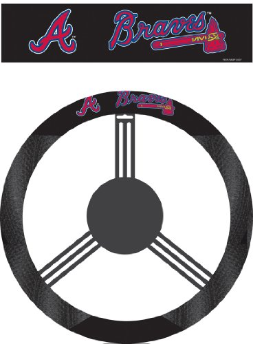 MLB Atlanta Braves Poly-Suede Steering Wheel Cover at Amazon.com