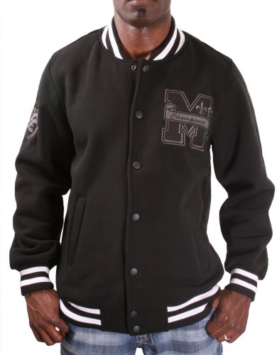 MO7 Most Official Seven Men's Varsity Jacket Coat Black Size XL