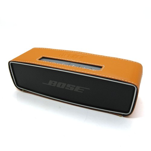Co2Crea(Tm) Orange Pu Leather Case Skin Sleeve Bumper Protective Cover For Bose Soundlink Mini Wireless Bluetooth Speaker