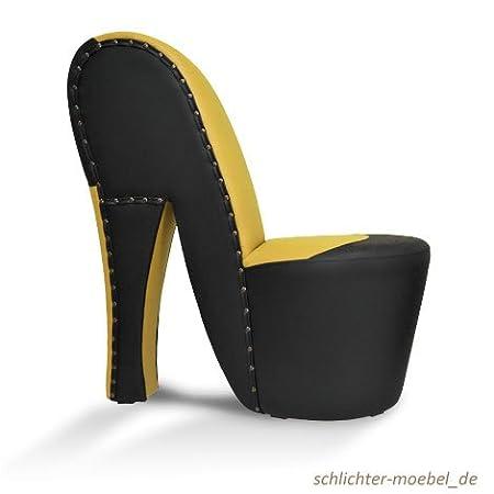 """Schuhsessel """"Brasilia"""" Schwarz / Gelb"""