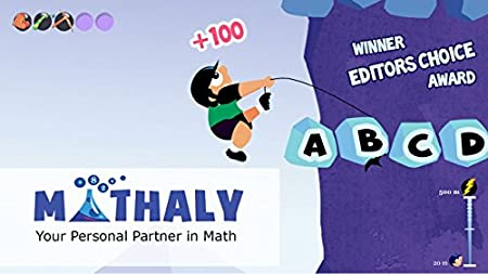 Math Games for Kids of Grade 1 - 5 : Addition Subtraction Multiplication Fractions Geometry Practice with Mathaly [Download]