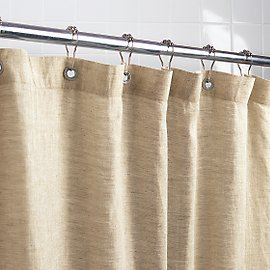 Gaiam Eco Friendly All Natural Linen Shower Curtain