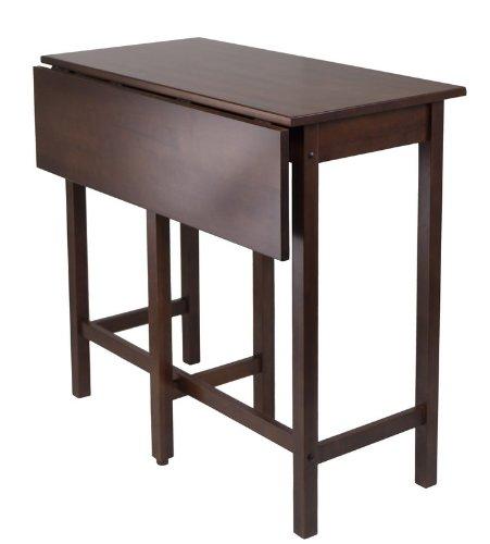 """Drop Leaf High Table (Antique Walnut) (39.37""""W x 30""""D x 35.43""""H with leaf)"""