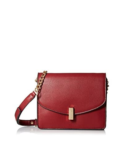 Kenneth Cole REACTION Women's Winged Victory Chain Flap Shoulder Bag, Bright Red As You See