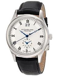 Stuhrling Prestige Men's 364.33152 Swiss-Made Laureate Quartz Dual Time Silvertone Watch