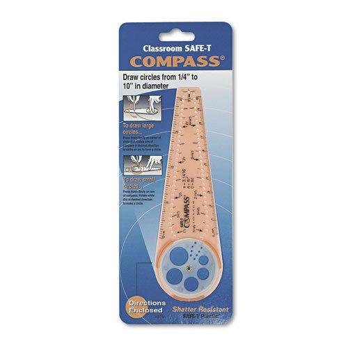 Classroom SAFE-T Products Compass, 10 Maximum Diameter, Plastic, Orange, 2 CT jill hadfield classroom dynamics