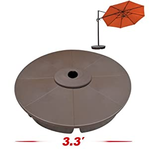 Strong Camel Outdoor Patio Umbrella Stand Deck Parasol Weight Base from SUNRISE