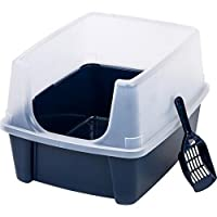 Open-Top Large Pet Cat Kitty Litter Box Pan with Shield Enclosure and Scoop :New by WW shop