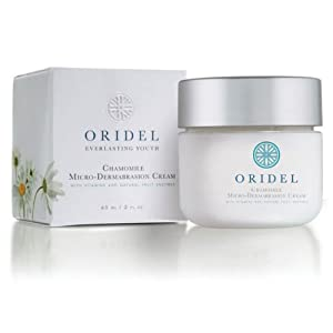 Oridel® Chamomile Paraben Free Microdermabrasion Cream (Facial Skin Care Scrub with Vitamins & Fruit Enzymes) made by Oridel®