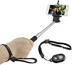 """Extendable Selfie Stick with Bluetooth Remote by CamKix® - With Universal Phone Holder Suitable for iPhone, Samsung, and Other Devices up to 3.25 Inches in Width - Fully Adjustable Handheld Monopod 11"""" - 40"""" - Light, Compact, and Easy to Carry With You (Black with Remote)"""