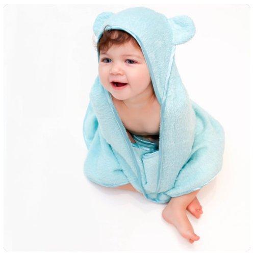 Imagen de Bebé Niño Woombie Algodón Orgánico Toalla con capucha Cuddle (0-3 años, Aqua Blue)