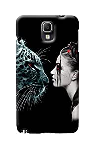 Fuson Tiger Girl Back Case Cover for SAMSUNG GALAXY NOTE 3 NEO - D4040