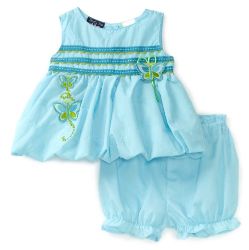 Cheap So La Vita Baby-girls Newborn Bubble Dress, Blue, 3-6 Months