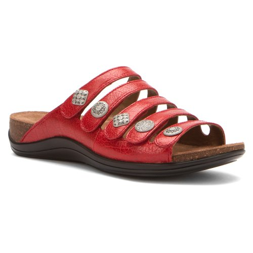 Dansko Women'S Janie Dress Sandal,Red Crackle,39 Eu/8.5-9 M Us front-306061
