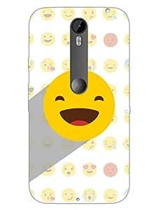 Moto X Style Back Cover - Whatsapp Emoji - Blissfully Happy - Designer Printed Hard Shell Case