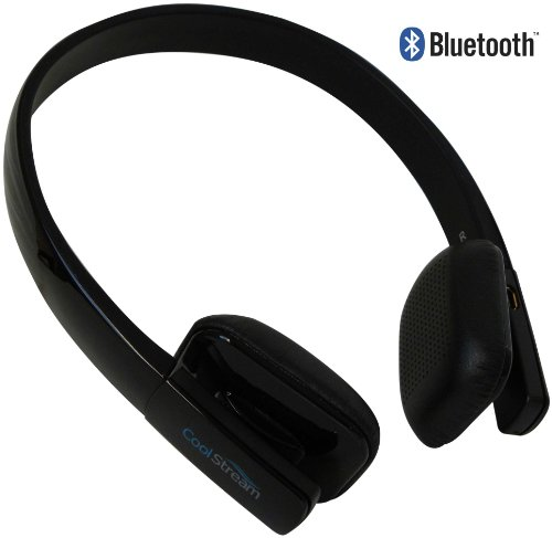 CoolStream Bluetooth 3.0 Stereo Headphones with Microphone for Apple iPhone, Samsung, LG, HTC and Bluetooth Enabled Smartphones, tablets and MP3 Players (Black) Coolstream Bluetooth Headsets autotags B00D3OXHJ6